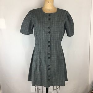Urban Outfitters Button Front Plaid Dress